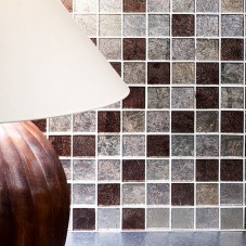G30094 Taunton Leaf Glass Mosaic 48x48